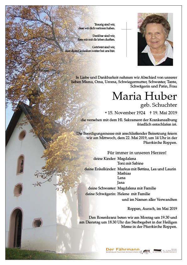 parte Maria Huber
