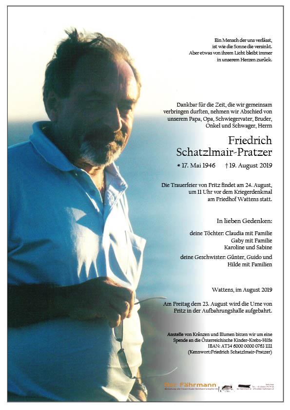 parte Friedrich Schratzlmair-Pratzer