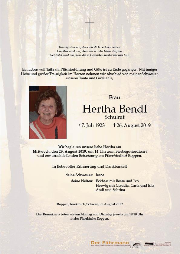 parte Hertha Bendl