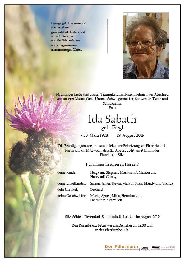 parte Ida Sabath