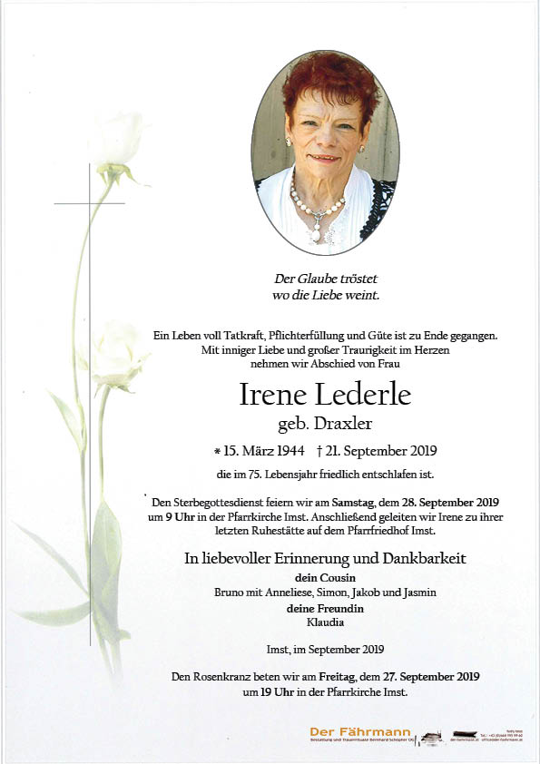 parte Irene Lederle