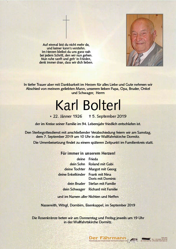 parte Karl Bolterl