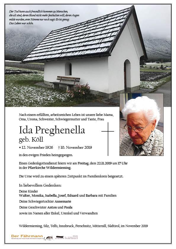 parte Ida Pregenella