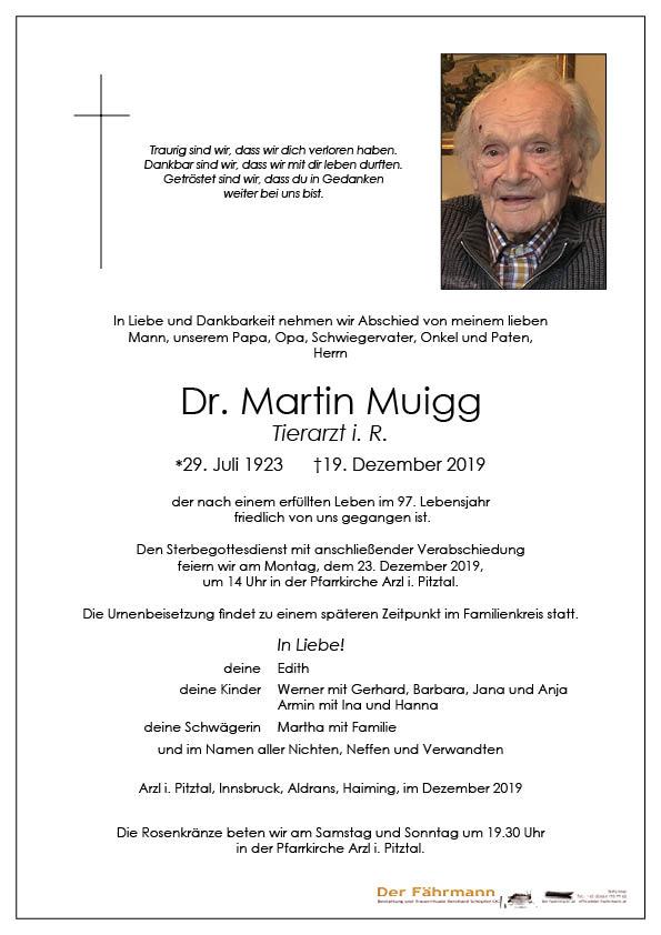 parte Dr. Martin Muigg