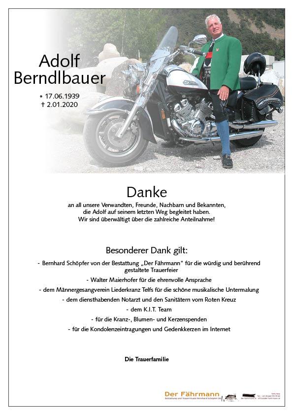 danksagung Adolf Berndlbauer