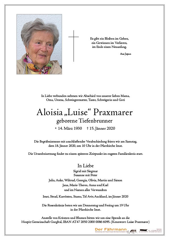 parte Aloisia Praxmarer