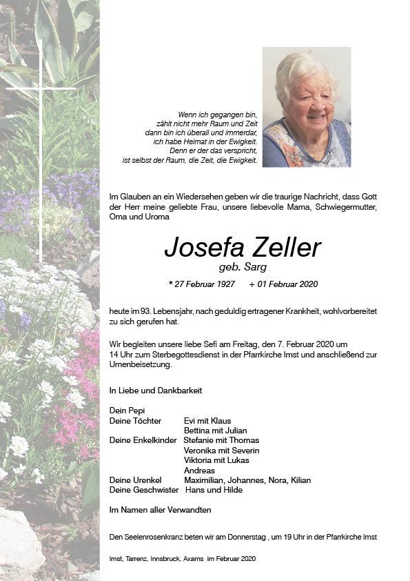 Parte Josefa Zeller
