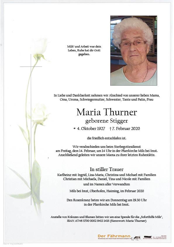parte Maria Thurner