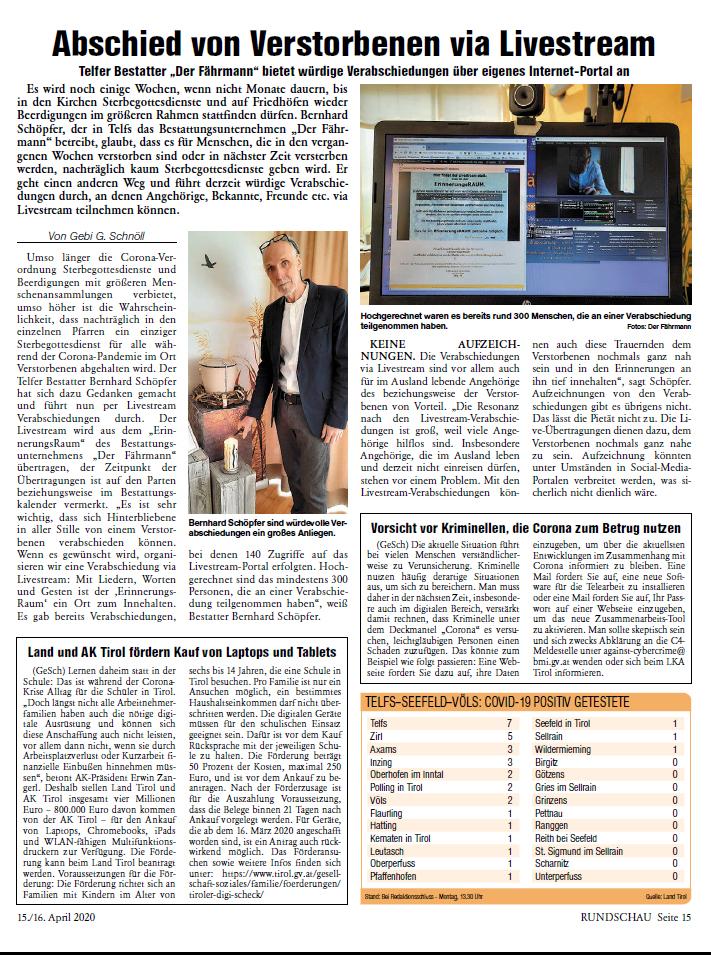 Oberländer Rundschau 15/16 April 2020