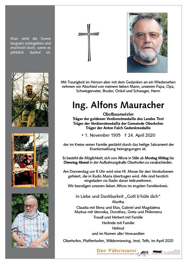 parte Alfons Mauracher