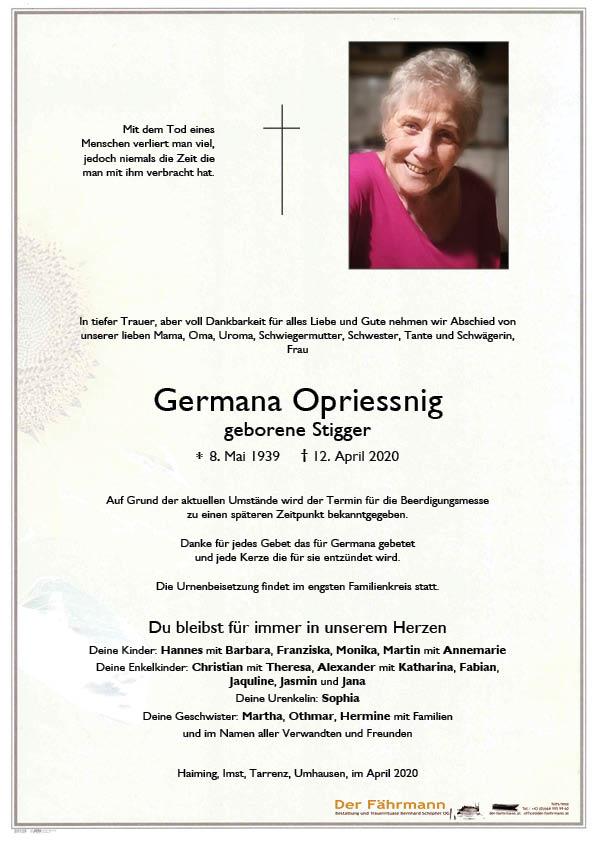 parte Germana Opriessnig