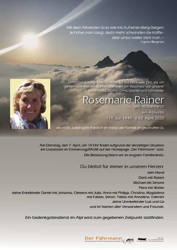 parte Rosemarie Rainer