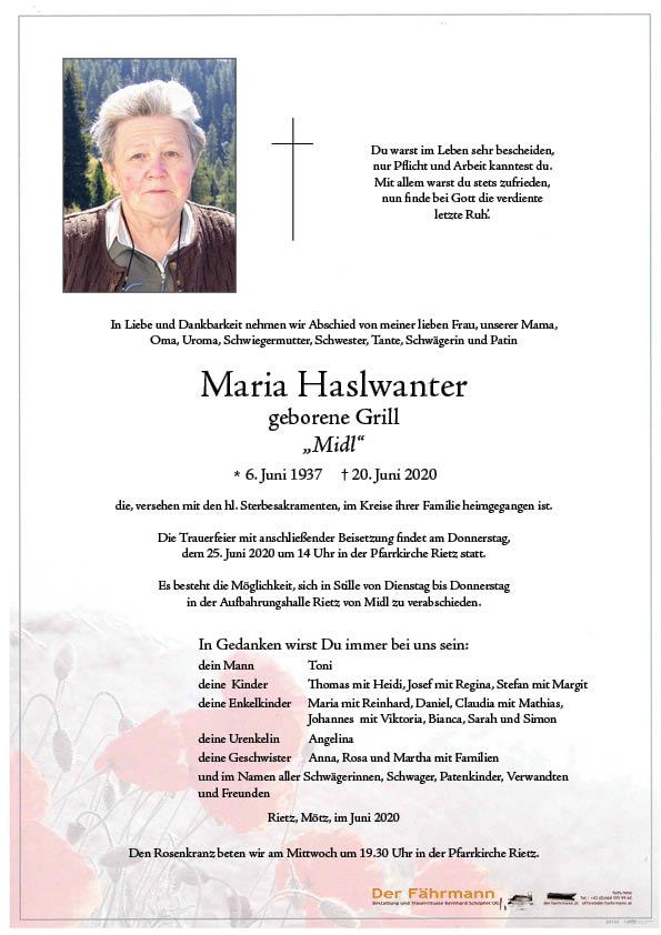 Parte Maria Haslwanter