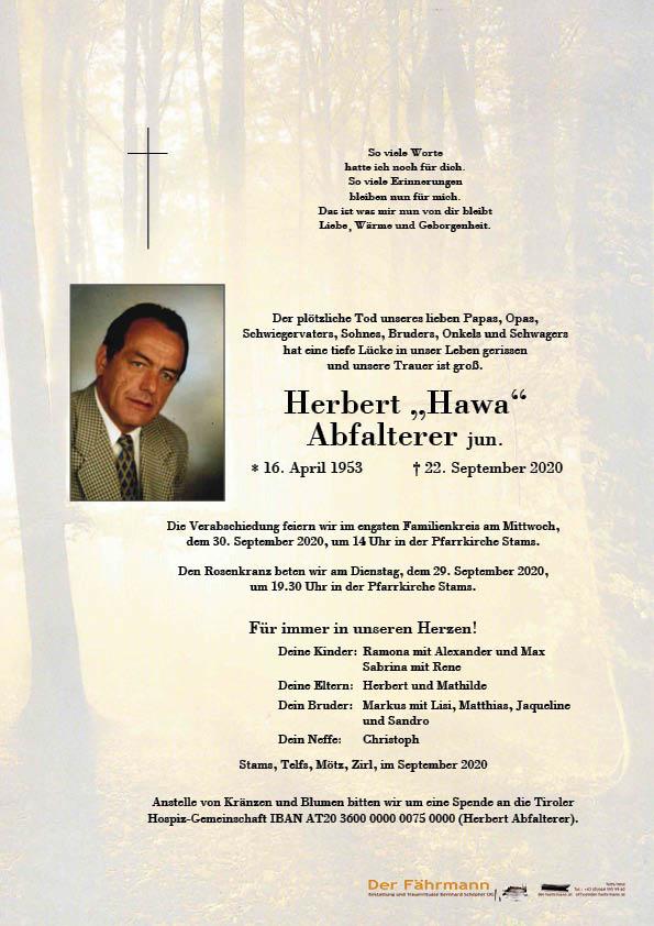 Parte Herbert Abfalterer