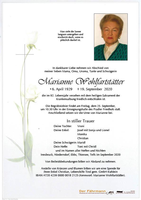 parte Marianne Wohlfartstätter
