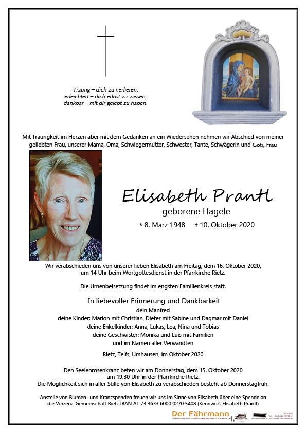 parte Elisabeth Prantl