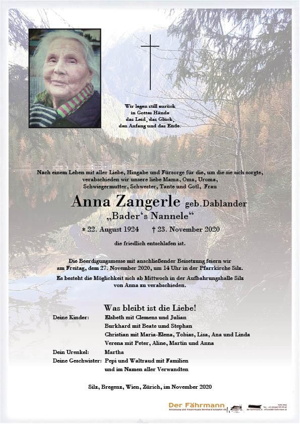 parte Anna Zangerle