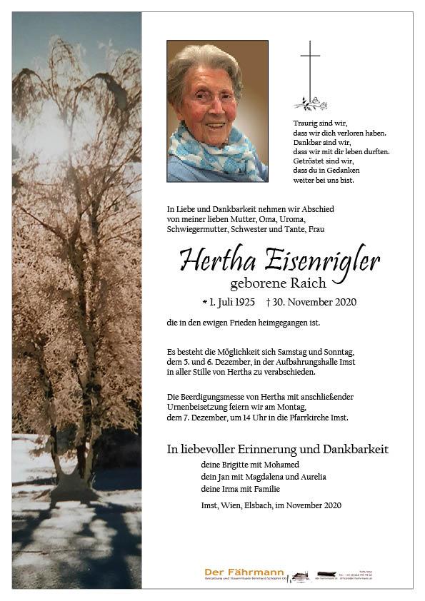 parte Hertha Eisenrigler
