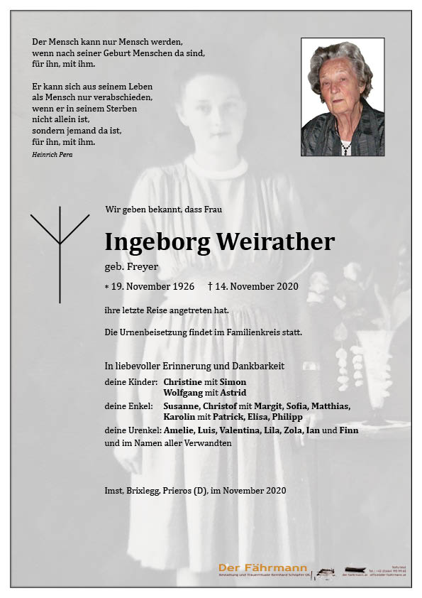 parte Ingeborg Weirather