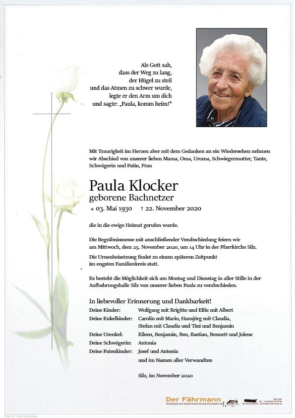 parte Paula Klocker