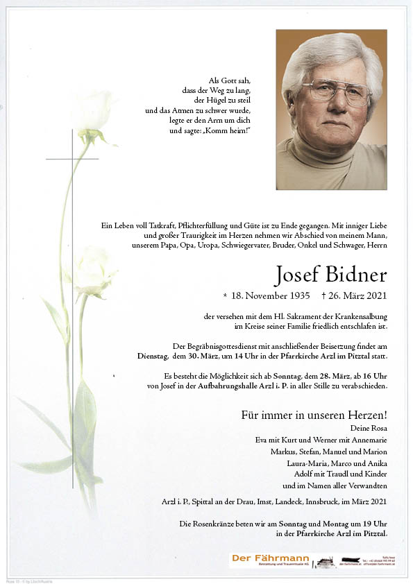 Parte Josef Bidner