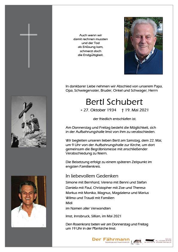 Parte Bertl Schubert