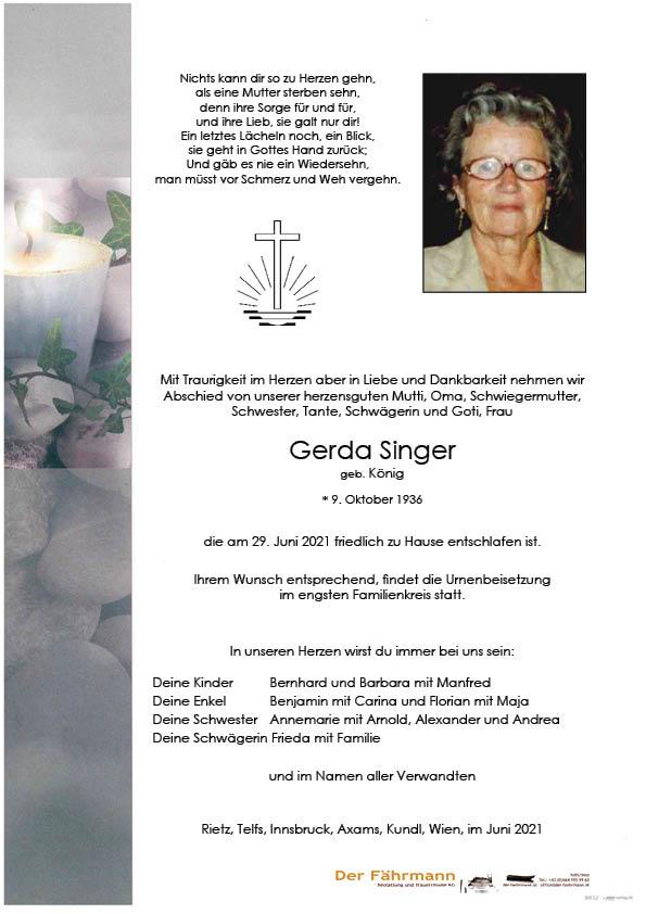 Singer Gerda