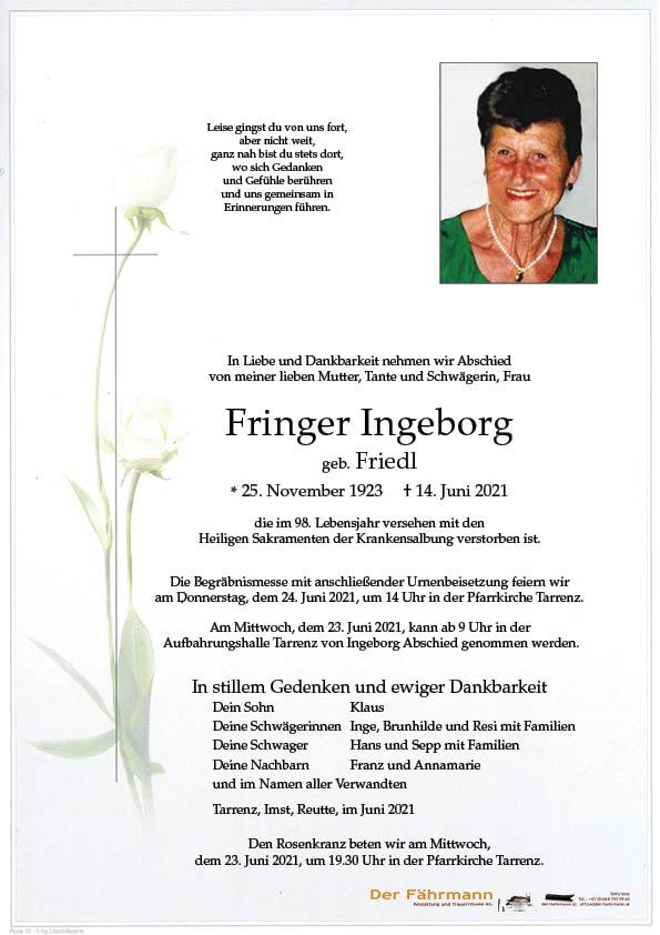 parte Fringer Ingeborg