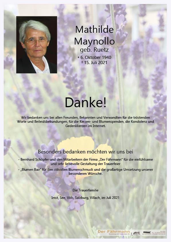 Danksagung Mathilde Maynollo