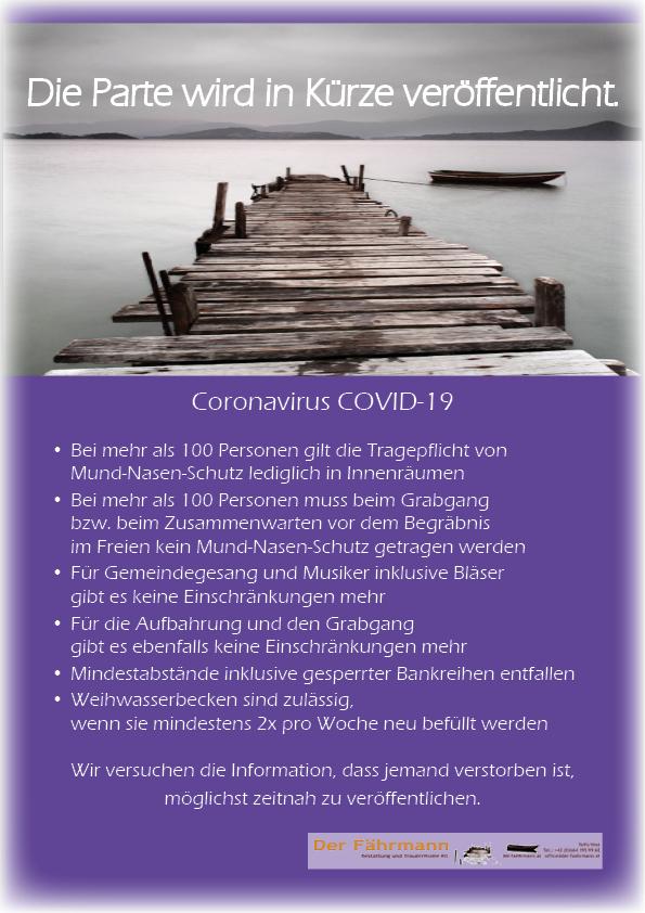 Parte_mit_Ankündigung CORONAVIRUS 2021