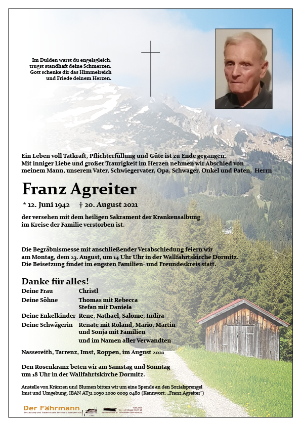 parte Agreiter Franz