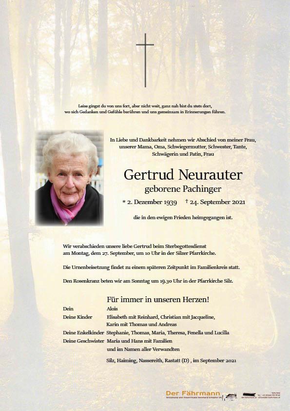 Parte Gertrud Neurauter