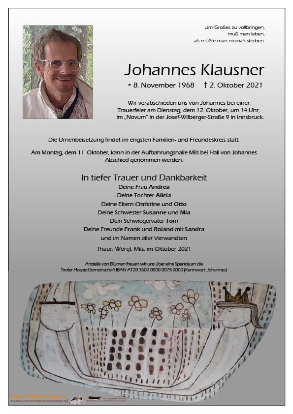 parte Johannes Klausner